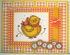 Meljen's Design Spring Chick and Spring Sunflowers