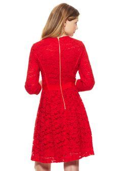 TAYLOR Three-Quarter Sleeve Lace Dress