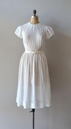 vintage 1930s Osmanthus swiss dot dress