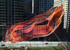 A Monumental Sculpture of Colorful Twine Netting Suspended Above Boston | Colossal