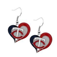 Minnesota Twins Women's Swirl Heart Earrings