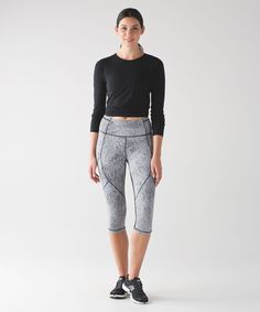 """Pants/tights for RUNNING and BIKING - e.g., """"Outrun 17"""" crop"""" from Lululemon (size - 6; color - blue/any)"""