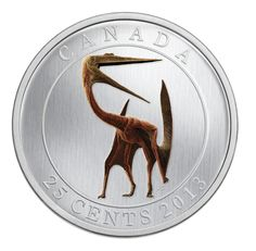 2013 Dinosaur: Quetzalcoatlus - Glow-in-the-Dark Coloured Coin Royal Canadian Mint Canada RCM