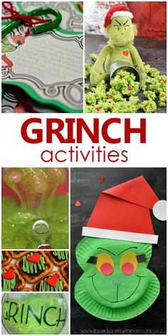Grinch Activities-Fun ideas for Grinch family movie night or classroom Grinch Day