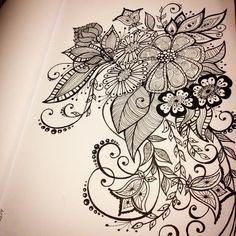#flower #pattern #swirls #colouring #drawing #ink #inky_miya #girl #art #sketch #uni_pin #узор #узоры #завитки #рисунок #скетч #раскраска #орнамент #чернила #zentangle