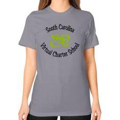 SCVCS School Unisex T-Shirt (on woman)