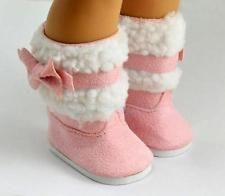 Fashion Pink Shoes Boots for 18 inch American Girl Doll Clothes Accessory