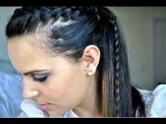 Rabo de Cavalo C/ Trança Lateral - YouTube