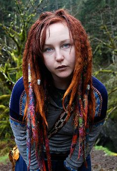 chelsea rose with wool dreads :: Shop DreadStop.Com for Premium Leather Dread Cuff #dreadstop