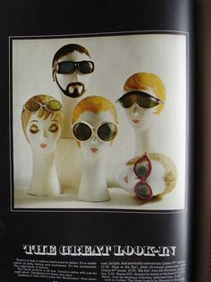 In honor of summer, and the stash of insanely awesome retro sunglasses I have recently come across, I had to revisit Summer 1968 via Harpers Bazaar advertising!
