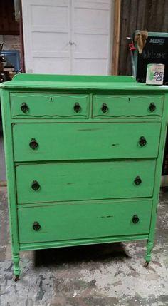 Dresser painted by Sweet Rickedy Redo's in Alma, MI using Junk Gypsy™ Paint in Free Range