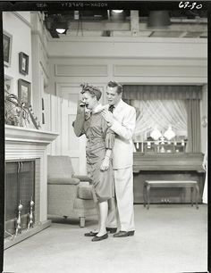 Lucille Ball and Desi Arnaz in 'I Love Lucy'.