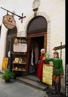 Medieval shop exterior old town Tallinn Estonia Europe