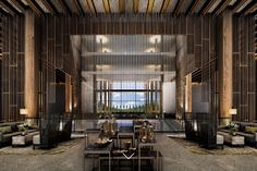 INK – Asia–born, Internationally Acclaimed Hotel and Resort Designers Hotel Lobby Design, Hotel Lounge, Lobby Lounge, Lobby Bar, Lobby Interior, Interior Design, Luxury Interior, Modern Interior, Modern Furniture