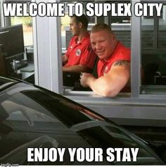 Brock Lesnar working security for ESPN.