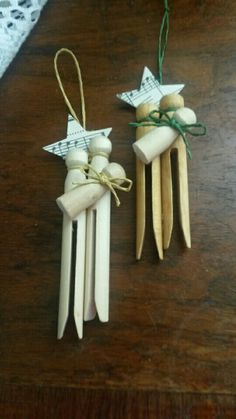 Clothespin nativity ornaments