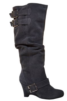 Grey Slouchy Boot