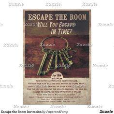 Instant Download Escape Room Party Invitations 5x7 4x6
