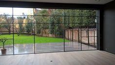 glazing bars on sliding windows Sliding Door Systems, Sliding Doors, Sliding Glass Windows, Open Window, Glass Roof, Modern Glass, City Buildings, Building Design, Kitchen Extensions