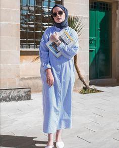 Modern Hijab Fashion, Abaya Fashion, Muslim Fashion, Modest Fashion, Girl Fashion, Fashion Outfits, Style Fashion, Hijab Mode, Abaya Mode