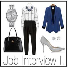 """Job Interview I."" by stehlikova-alice on Polyvore"