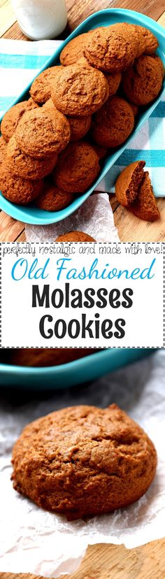 Old Fashioned Molasses Cookies - Nostalgic Old Fashioned Molasses Cookies are perfect for holiday potlucks, gift-giving, or a get together with family and friends.  Soft, moist, and pillow-y, these cookies are perfect for those few relaxing moments found in holiday rush madness.