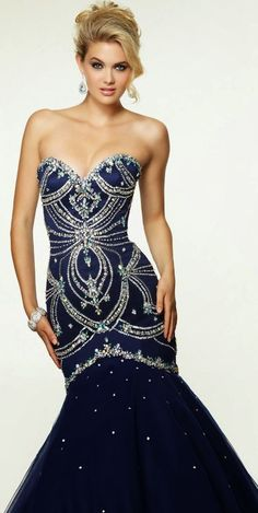 2015 Fancy Prom Dresses Sweetheart Mermaid/Trumpet With Beads Tulle