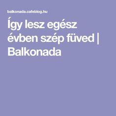Így lesz egész évben szép füved   Balkonada