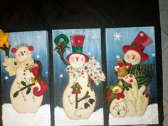 Christmas Snowman, Xmas, Christmas Ornaments, Diy And Crafts, Crafts For Kids, Holiday Crafts, Holiday Decor, Country Paintings, Craft Show Ideas