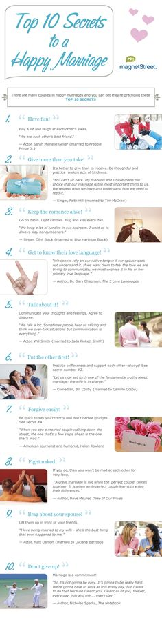 Top 10 Secrets to a Happy Marriage