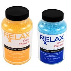 Detox & Sports Therapy Bath Salts, Minerals & Vitamins -19 Oz Bottles- Spa Crystals for Soaking Aches, Pains & Tension Relief by Relax Spa & Bath, http://www.amazon.com/dp/B00AXB7PTK/ref=cm_sw_r_pi_dp_XU7esb1674RXV
