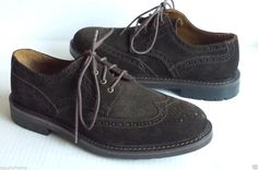 #POLO Ralph Lauren men size 8.5 suede brown wing tip oxford shoes NORBECK WINGTIP RalphLauren visit our ebay store at  http://stores.ebay.com/esquirestore