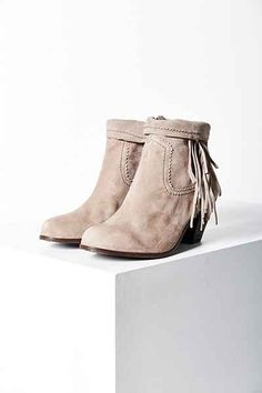 Sam Edelman Louie Fringe Ankle Boot - Urban Outfitters