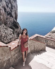 "Sardinia -italy ""This was such a unique and breathtaking experience, walking all the way down the stairs on the…"""