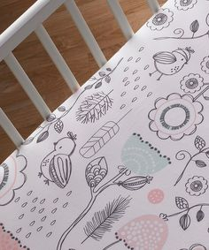 Another great find on #zulily! Lolli Living White Sparrow Fitted Crib Sheet by Lolli Living #zulilyfinds
