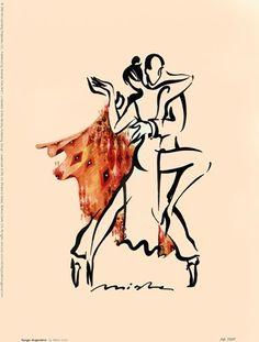 Tango Argentina by Misha Lenn art print