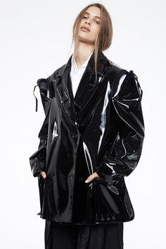 maison margiela pants and pvc coat photographed by marissa findlay for blkonblk #5