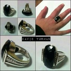 OFFERS CONSIDERED David Yurman DIAMOND RING TRADE VALUE $700 Size 7 David Yurman 19 x 22 large center black onyx stone Channel set side diamonds Classic rope cable design  From the Deco Collection Retails for $1700.00 David Yurman Jewelry Rings