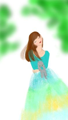 そろそろ キミドリの風 #illustration#girl#イラストレーター#女の子