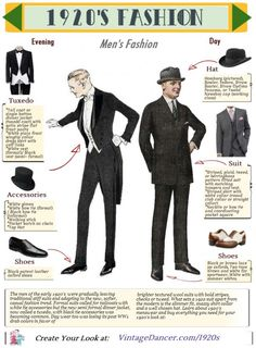 Men's and women's fashion history articles and guides to dressing for a roaring twenties themed event. From flappers to gangster authentic style costumes are possible. Anos 20s, Illustration Mode, Illustrations, Louise Brooks, La Mode Masculine, Do Men, Mens Style Guide, Fashion Days, Fashion Men