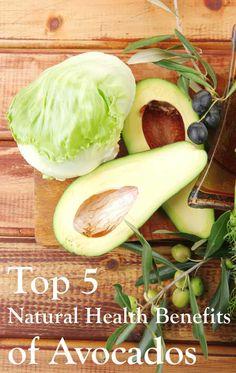 Top 5 Natural Health Benefits of Avocados