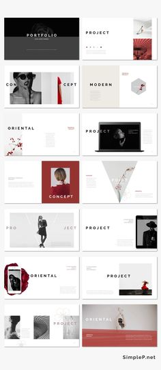 Cool Modern Oriental Keynote Presentation Template #ppttemplate #oriental #asian #japanese