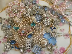 girlyme:  Vintage Mess of Bling II (by Attic Charm)