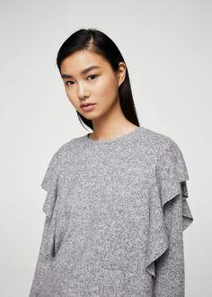 Pulover s volanima Sweater Coats, Sweater Cardigan, Minimalist Fashion,  Mango Outlet, Aktuelle be94ce0ddf