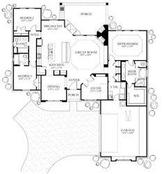 Island Kitchen Floor Plan floor plan of arcadia 20: single storey house | house plans