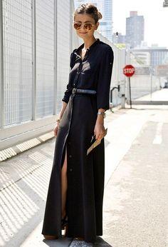 Платье-рубашка на улицах мира. 45 лучших фото