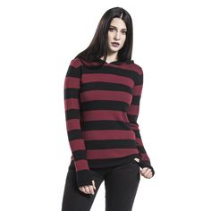"Felpa donna ""Big Stripes Hoodie"" del brand #PussyDeluxe."