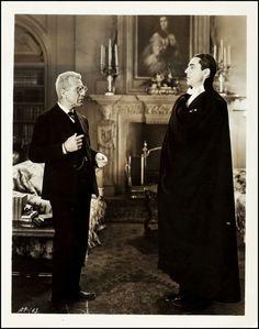 Edward Van Sloan and Bela Lugosi in Dracula (1931)