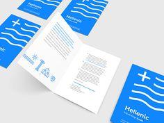 Greek inspired brochure for Hellenic Studies #greek #education #school #branding #logo #logoinspirations #typography