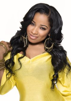 Toya Wrigt Loose Curls Hairstyle